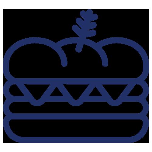 Build Your Own Deli Sandwiches icon blue