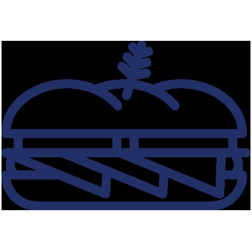 Gourmet Deli Sandwiches icon blue