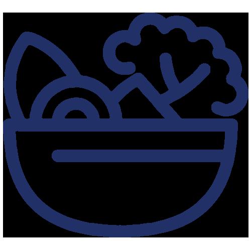 fresh salads icon blue